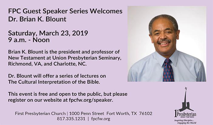 Dr. Blount Speaker